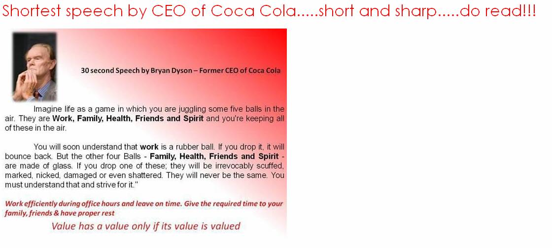 Speech by bryan dyson ceo of coca cola цена на пылесос дайсон